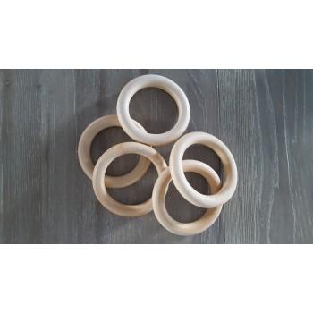 Houten ringen 85/100 mm (5 stuks)